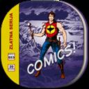 Comicbook, Flat, Round Icon
