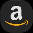 Amazon, Flat, Round Icon