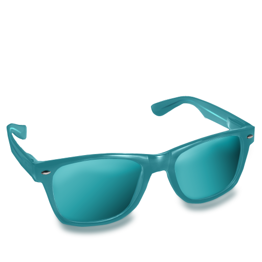 Glasses, Teal Icon