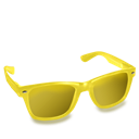 Glasses, Yellow Icon