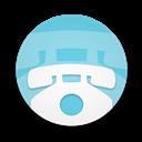 Round, Telephone Icon