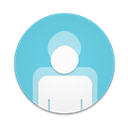 Contacts, Round Icon
