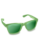 Glasses, Green Icon