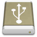 Drive, External, Lightbrown, Usb Icon