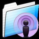 Folder, Podcast, Stripe Icon