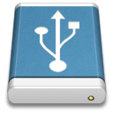 Blue, Drive, External, Usb Icon