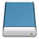Blue, Drive, External Icon