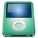 Alt, Ipod, Lime, Nano Icon