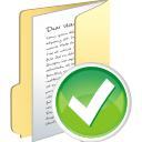 Accept, Folder, Full Icon