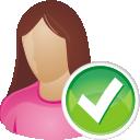 Accept, She, User Icon