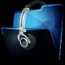 Folder, Headphone, Music Icon