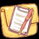 Folder, Hp, Notepad Icon