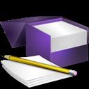 Box, Notes, v Icon