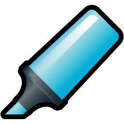 Blue, Highlighter Icon
