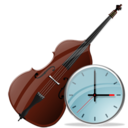 Clock, Contrabass Icon