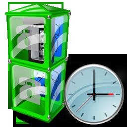 Box, Clock, Telephone Icon