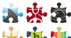 Puzzle Social Network Icons