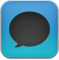 Black&Amp, Blue, Message Icon