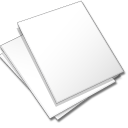 Documents, White Icon