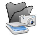 , &Amp, Black, Cameras, Folder, Scanners Icon