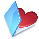 Blue, Favorits, Folder Icon