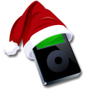 Black, Ipod, Santaclaus Icon