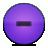Button, Minus, Violet Icon
