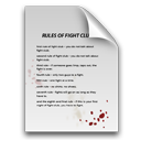 Blood, Club, Document, Fight, Paper, Rules Icon