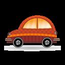 Car, Icon, Orange Icon
