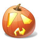 Halloween, Jack, Lantern, Pumpkin, Shock Icon
