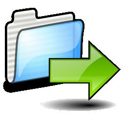 Arrow, Folder, Move, Right, Send Icon