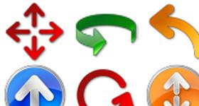Vista Style Arrow Icons