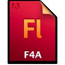 Document, F4a, File, Fl Icon