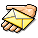 Beos, Email, Hand, Message, Share Icon