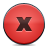 Button, Close, Red Icon