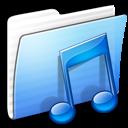 Aqua, Folder, Music, Stripped Icon