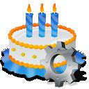 Birthday, Cake, Gear Icon