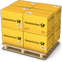 Boxes, Deutche, Post, Shipping Icon