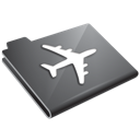 Grey, Plane Icon