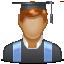 Bachelor, Student, User Icon