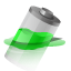 Battery, Power, Water Icon