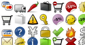 Glossy E Commerce Icons Pack Icons