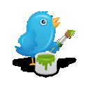 Bird, Paint, Twitter Icon