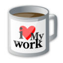 Coffee, Cup, Drink, Food, Love, My, Office, Work Icon