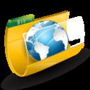 Earth, Folder, Internet, Web Icon