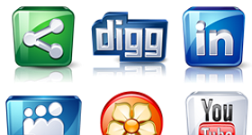 High Details Social Icons