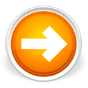Arrow, Forward, Next, Orange, Right Icon