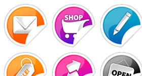 Vibrant Stickers Icons