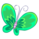 Butterfly, Green Icon