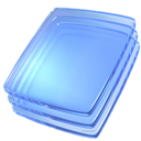 Blue, Glass Icon
